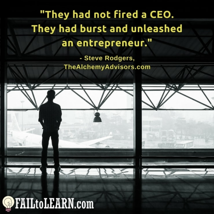 They had not fired a CEO. They had burst and unleashed an entrepreneur.-Steve Rodgers