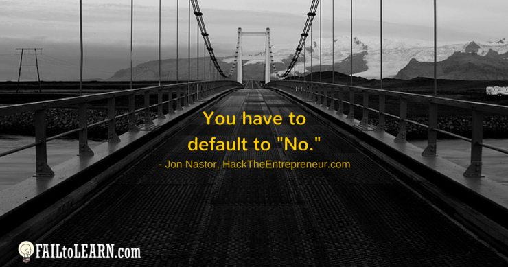 You have to default to