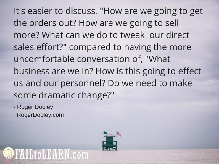 Roger Dooley - It's easier to discuss,